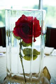 frozen rose centerpiece